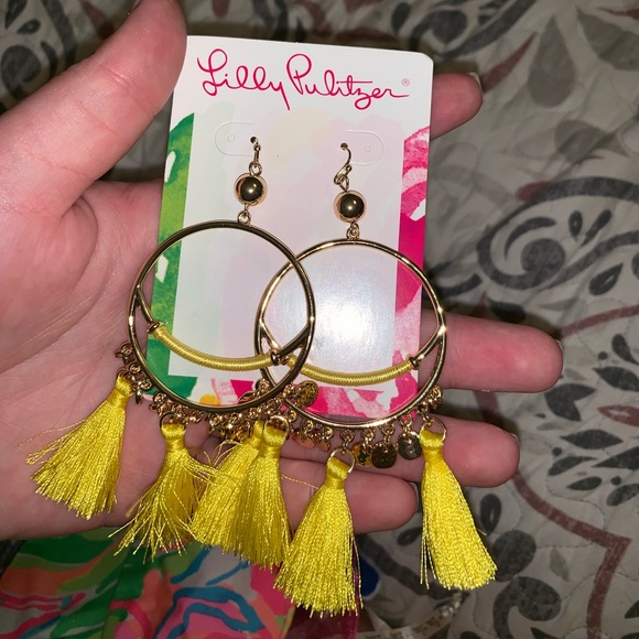 Lilly Pulitzer Jewelry - Lily Pulitzer tassel earrings